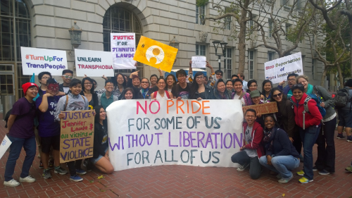 Asian Pacific Islander youth contingent at San Francisco Trans March 2015