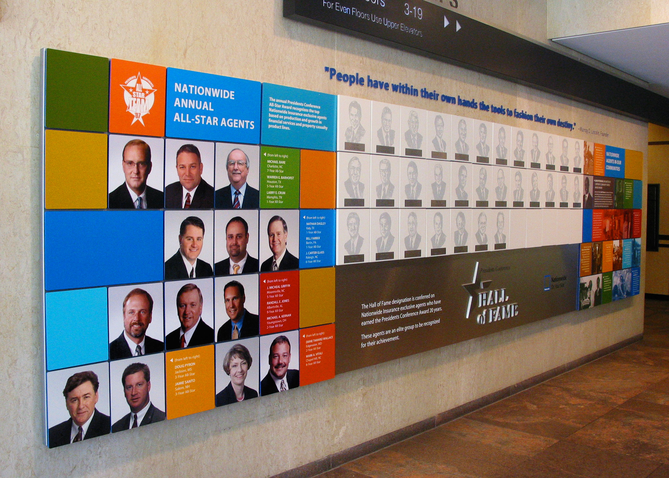 Nationwide Insurance Wall of Fame