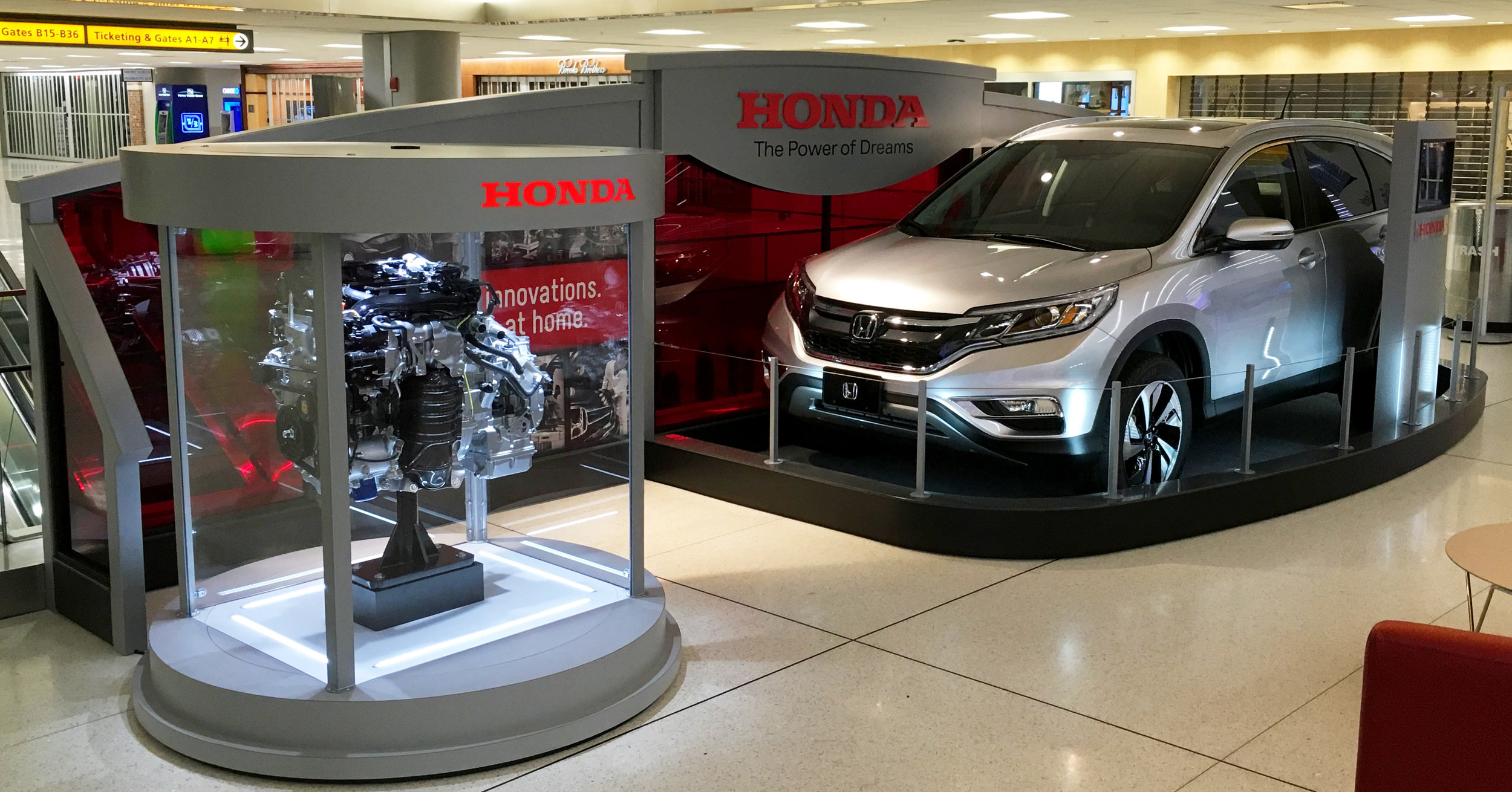 Honda Vehicle Columbus Airport Display