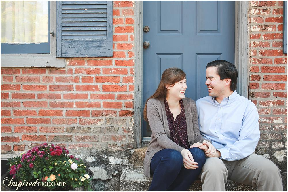 Old Town St. Charles Fall Engagement Photography // www.inspiredphotographystl.com