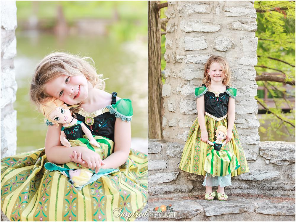 Oak Knoll Park - St. Louis Child Portrait Photography - Princess - 5th Birthday Photos - Dress Up - Frozen // www.inspiredphotographystl.com