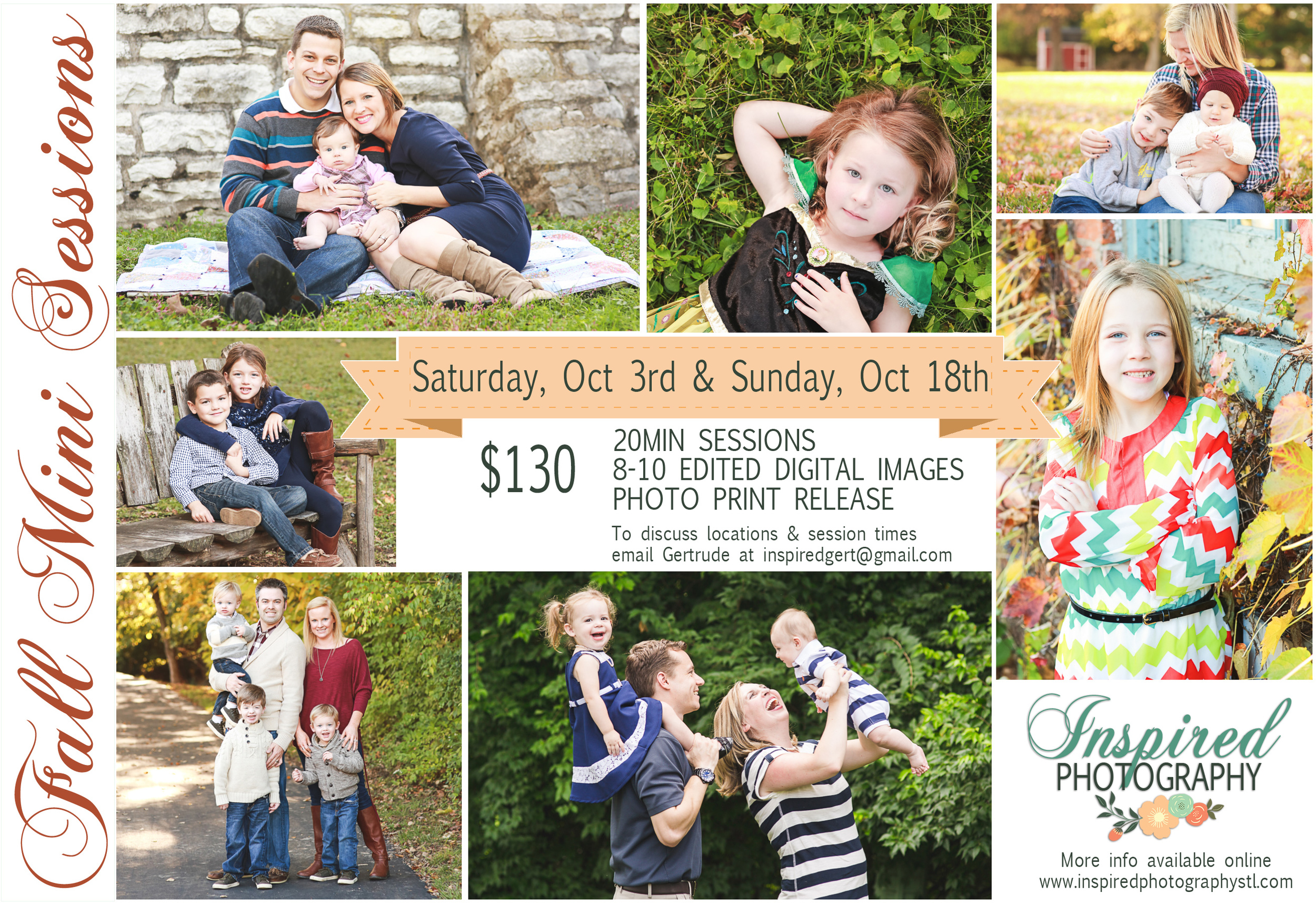 St. Louis Fall Family Mini Portrait Sessions // www.inspiredphotogrphystl.com