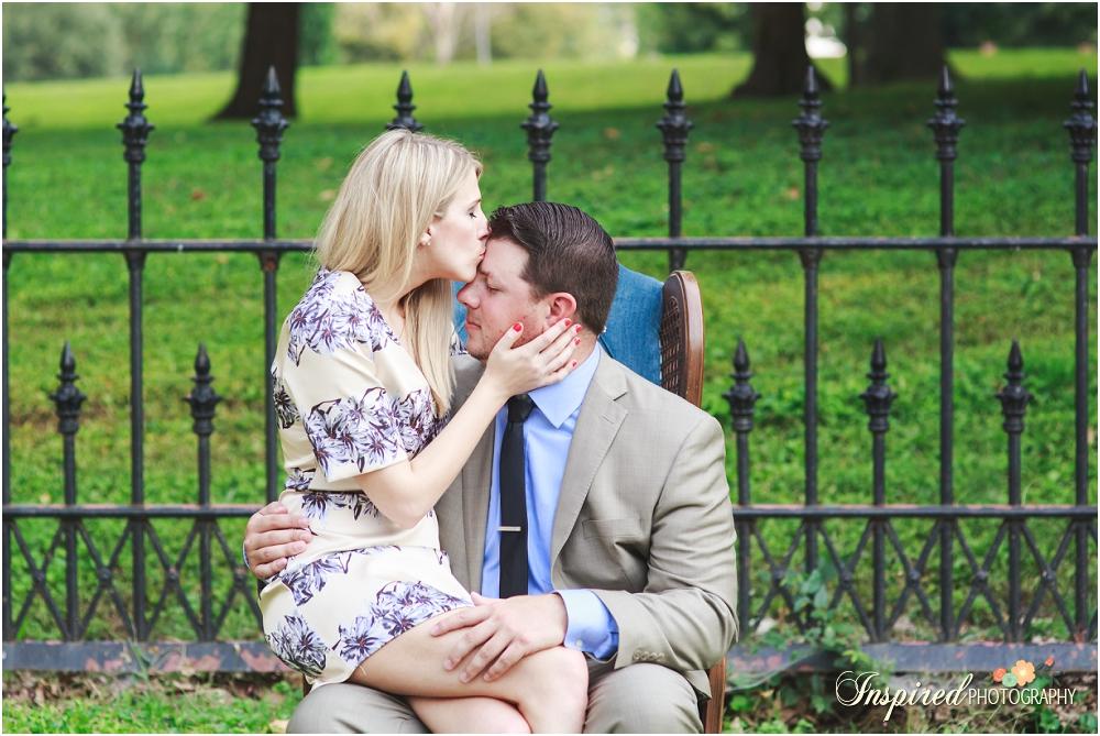Summer Lafayette Park St. Louis Engagement Photography