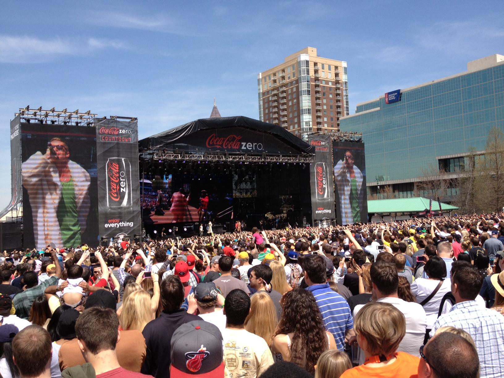 Coke Zero Countdown - Macklemore Stage.JPG