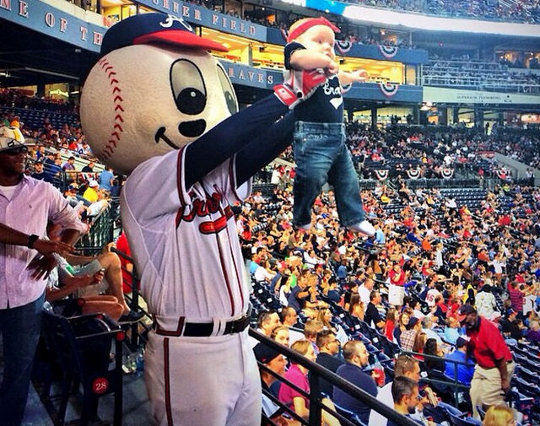 Atlanta Braves' Simba Cam (photo via Braves Instagram)