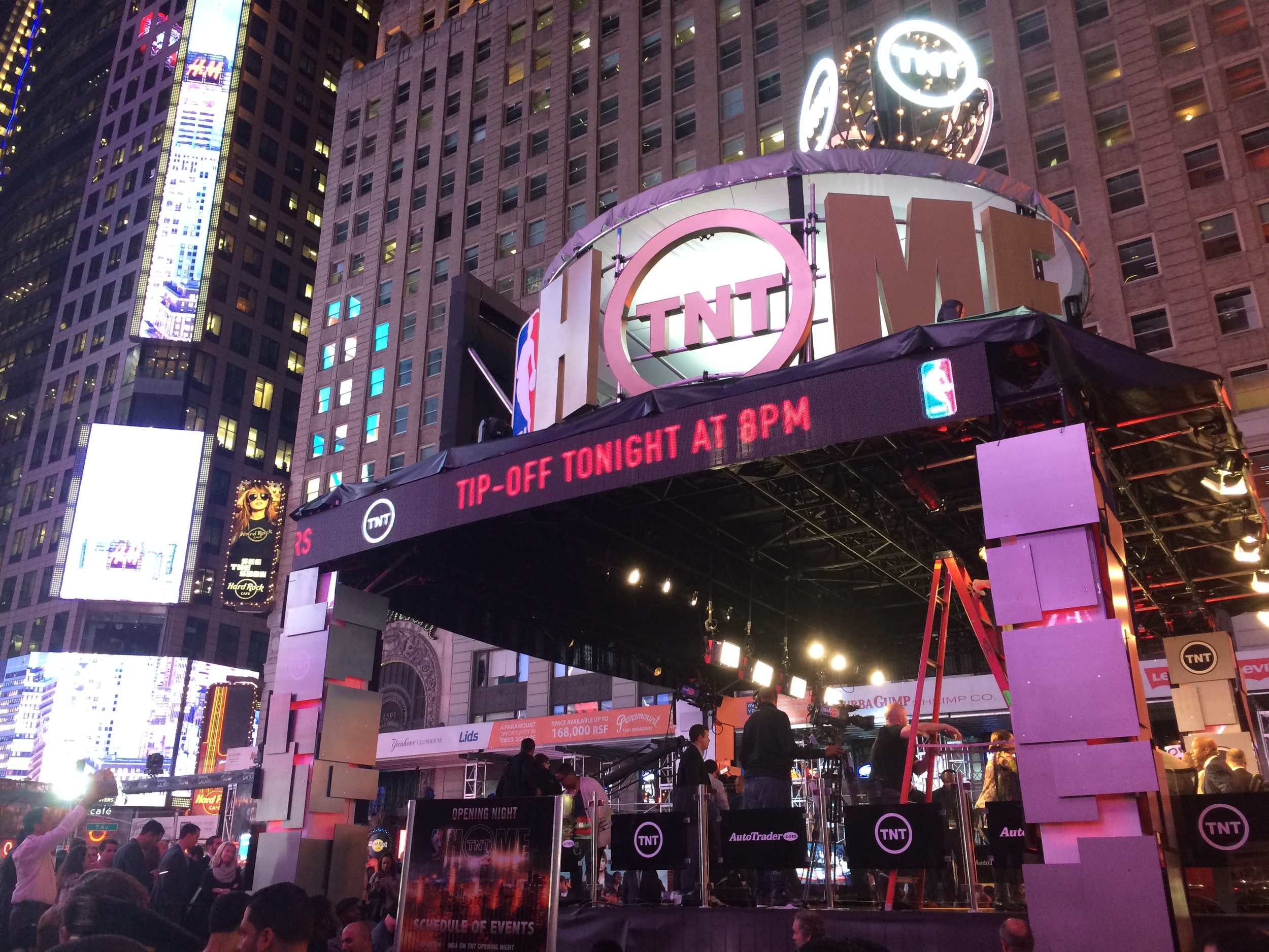 NBA Opening Night on TNT broadcast live from Time Square in New York.
