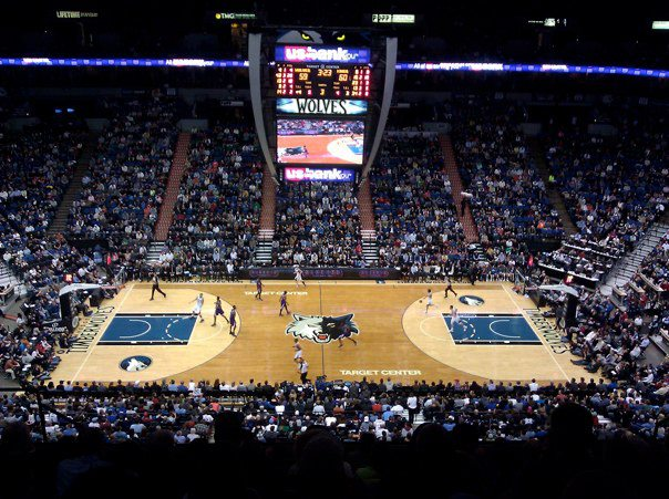 The Target Center - pictured exactly the way the kid in me remembers it.