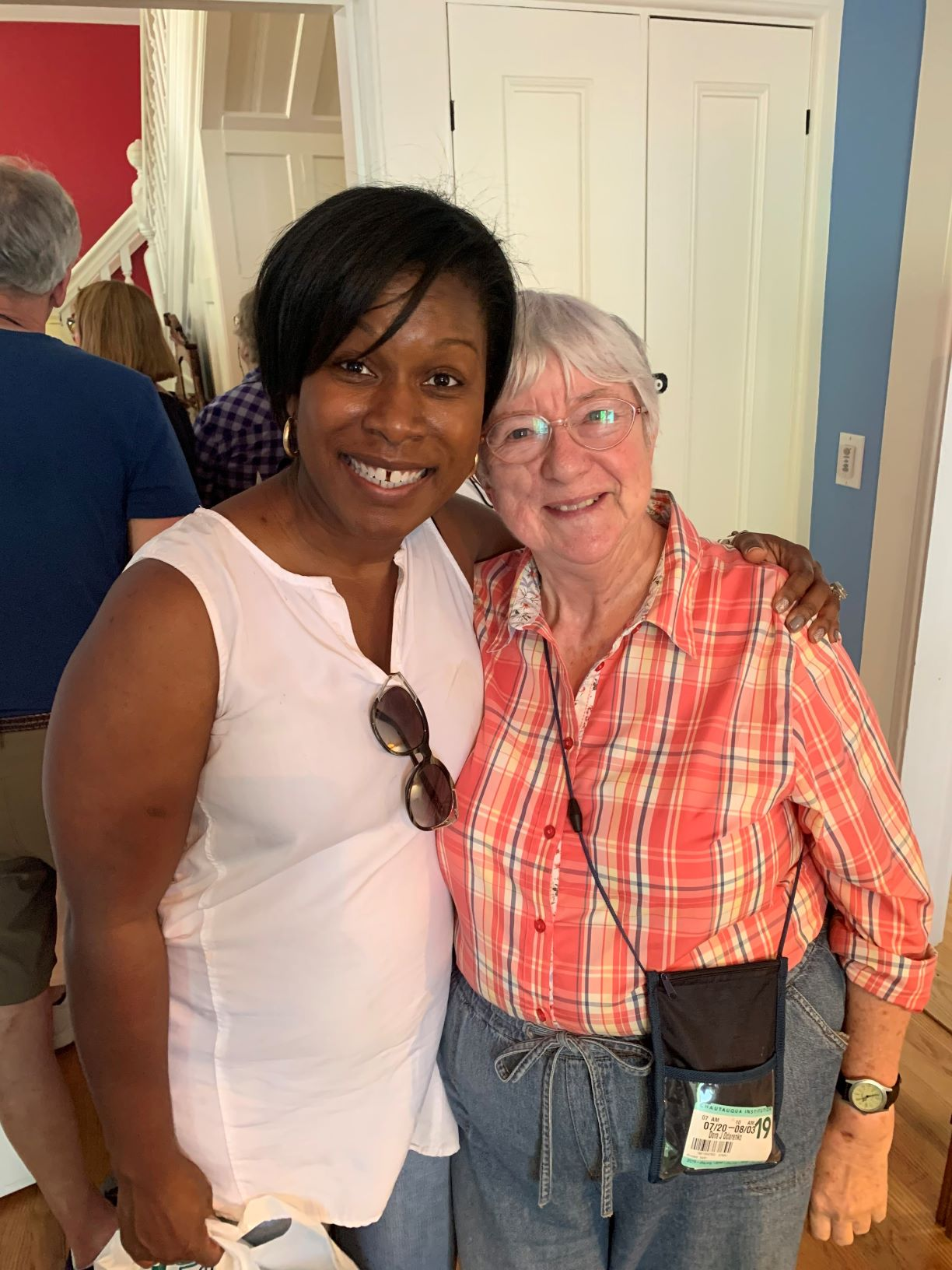 Chautauqua is a place for connections and re-connections. Dr. Jones met a divinity school classmate from the Baptist House!