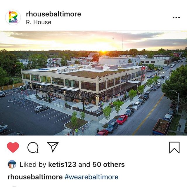 Nice shot of our project @rhousebaltimore in partnership with Seawall. #thisiswhybaltimore #wearebaltimore