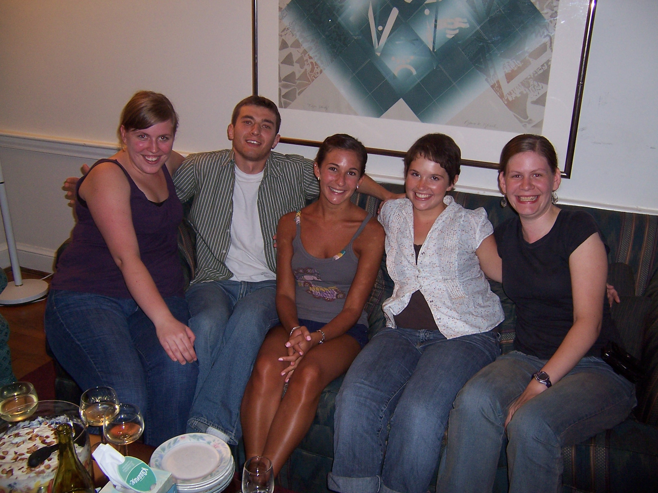 2008-2009 Volunteers Left to right: Charlotte Emigh, Noah Bein, Jennifer Cacace, Deanna Drake, and Rachel Birkhahn-Rommelfanger