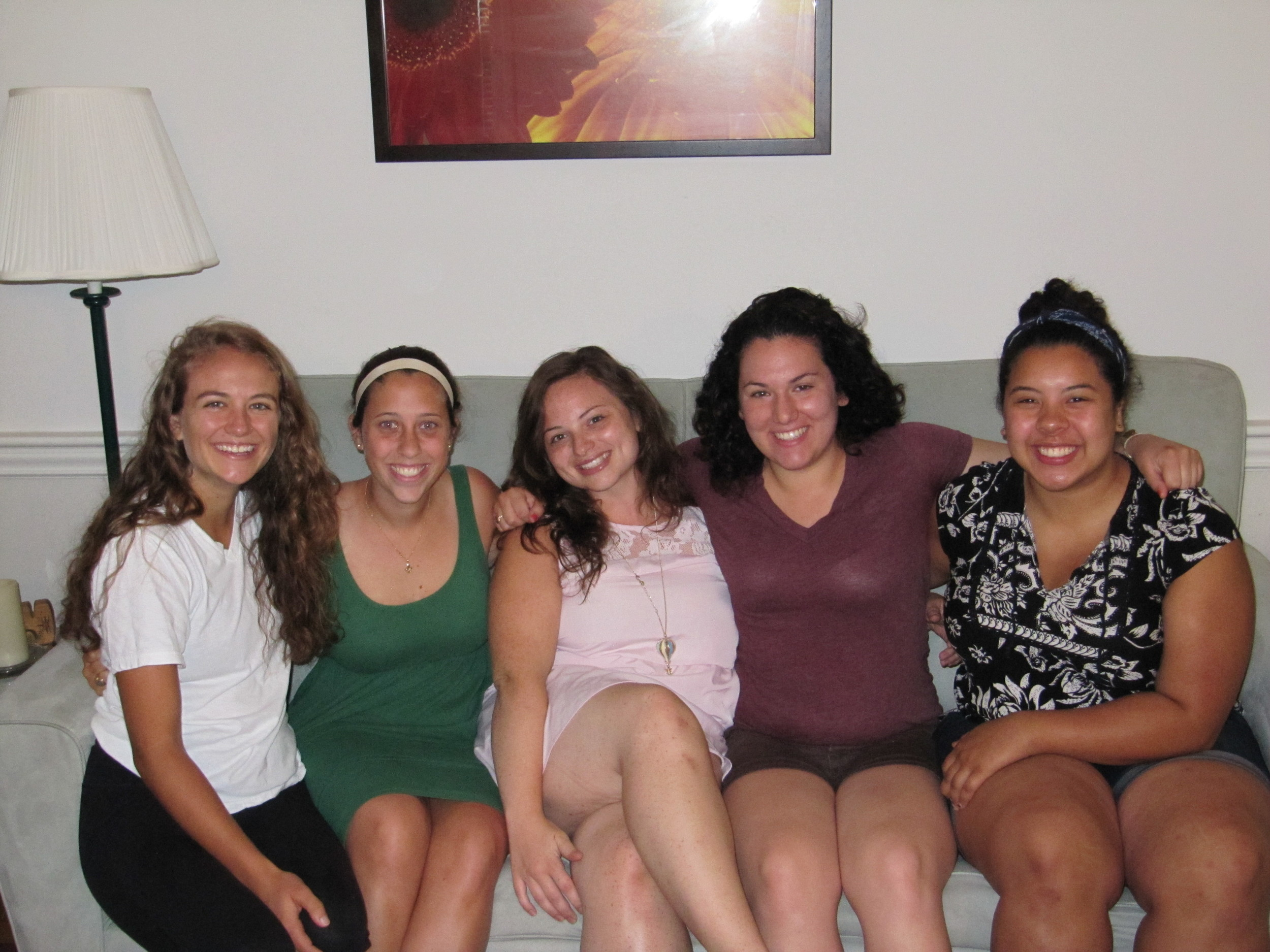 2013-2014 Volunteers: Left to right: Audrey Purdue, Mackenzie Cooke, Gabrielle Gill, Rachel Sluder, and Celestina Lee