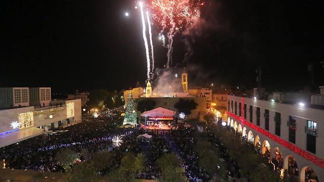 Manger Square w fireworks 2014.jpg