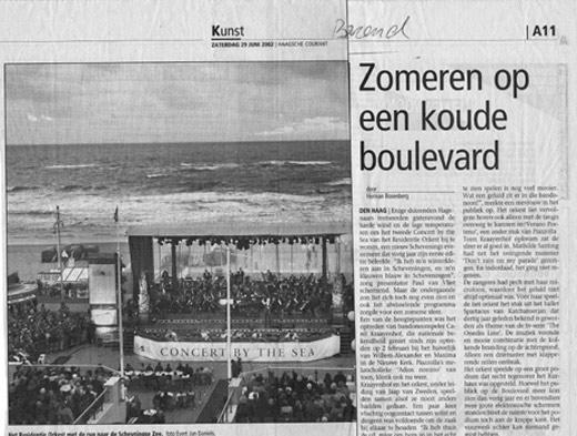 Boulevard van Scheveningen met Het Residentie Orkest o.l.v. Jaap van Zweden