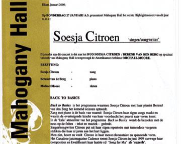 Duo-concert in Edam (27-01-2000) met gast Michael Moore (klar)