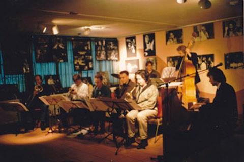 Het Octet in 'Jazz in Hofgeest', met dank aan Anita Porcelijn