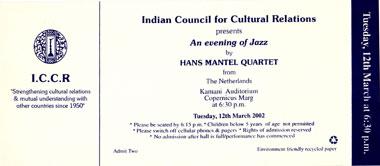 Uitnodiging voor concert