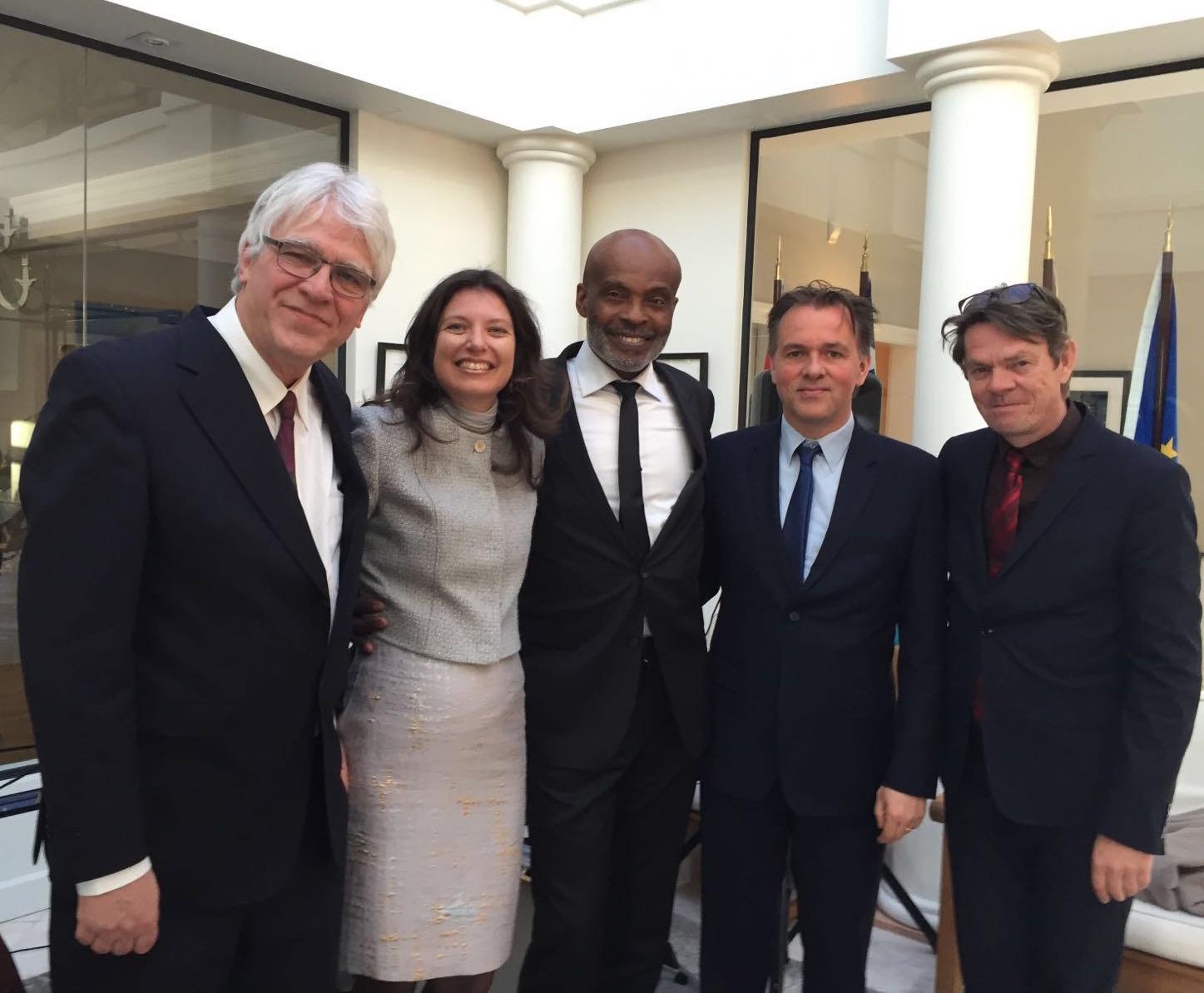 With Quirine van de Linde and Humphrey Campbell in Geneva.