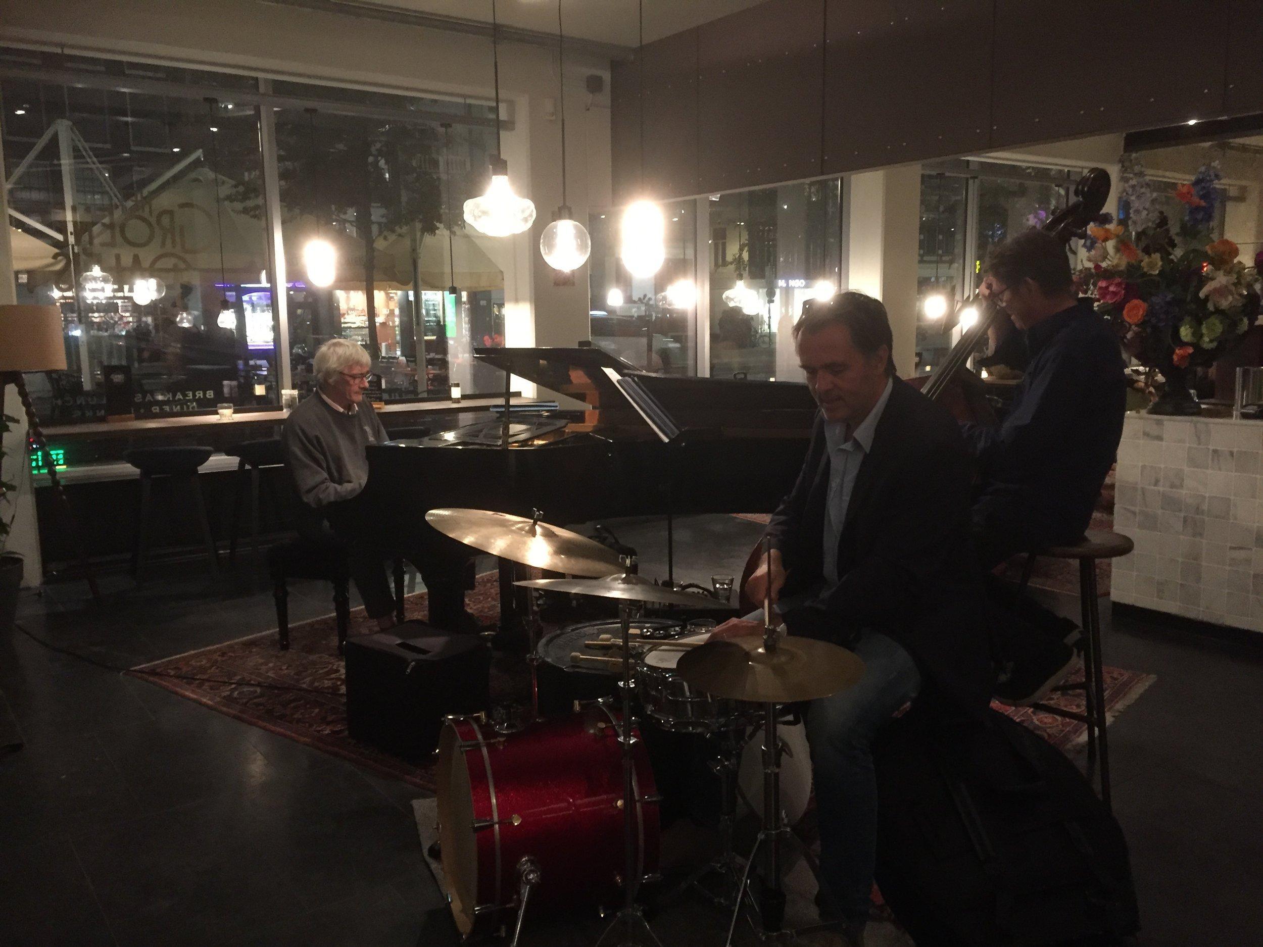 Joost, Erik and wonderful pianist and beautiful person, my cousin René van Helsdingen!