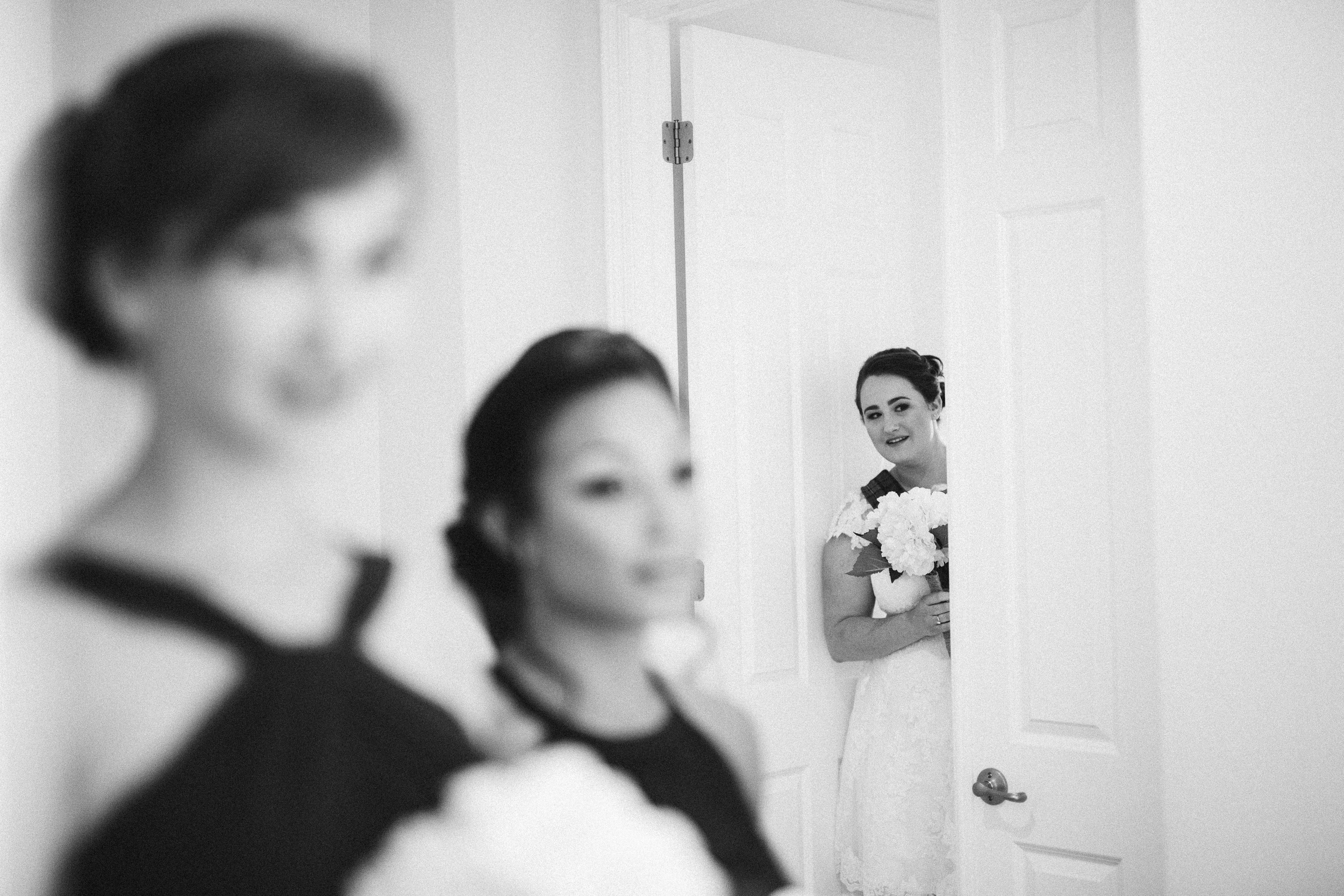 Kristen, Waiting to walk down the isle, Los Angeles, CA