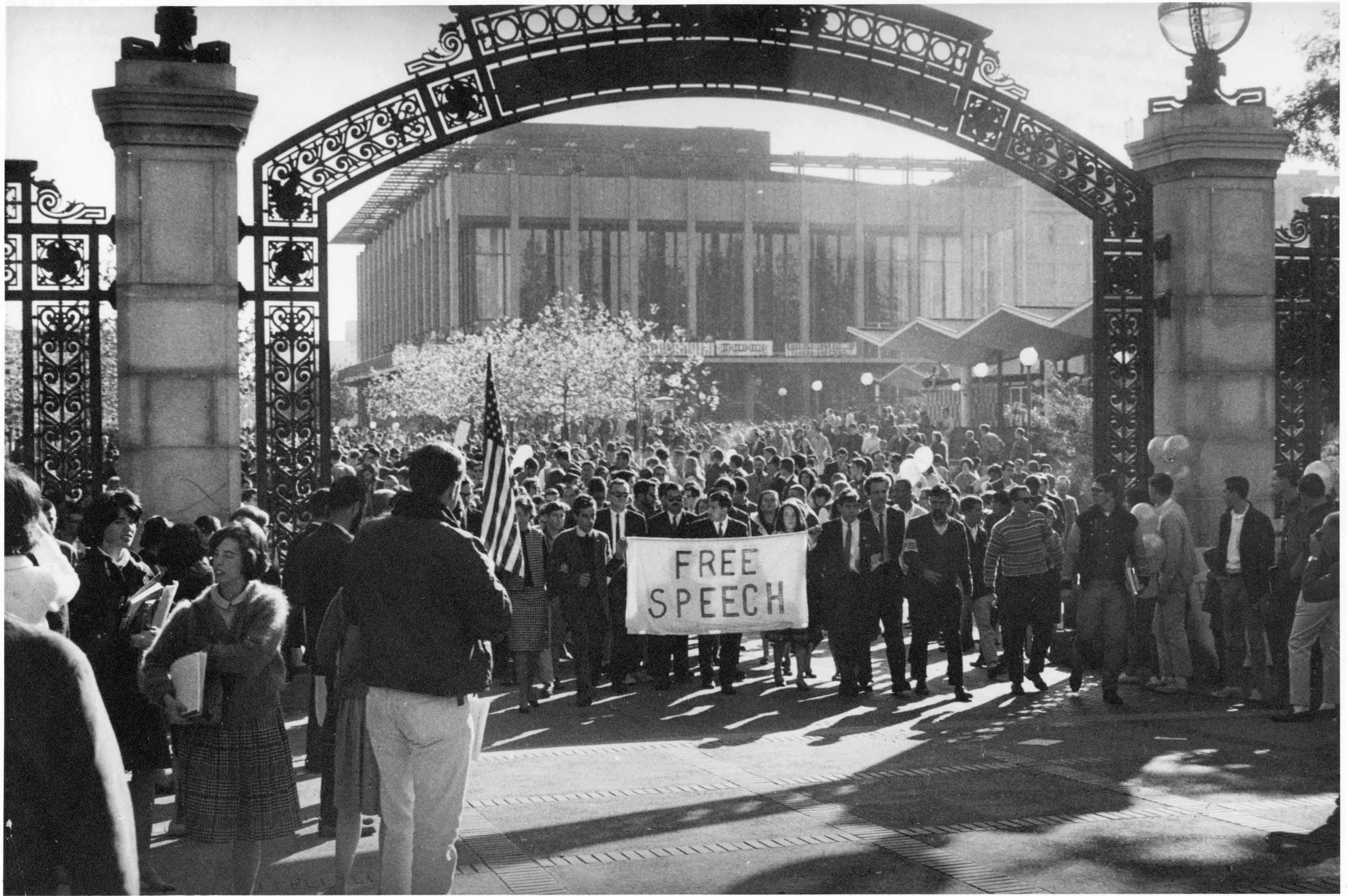 The Free Speech Movement at Berkeley changed U.S. perceptions of collegiate activism.