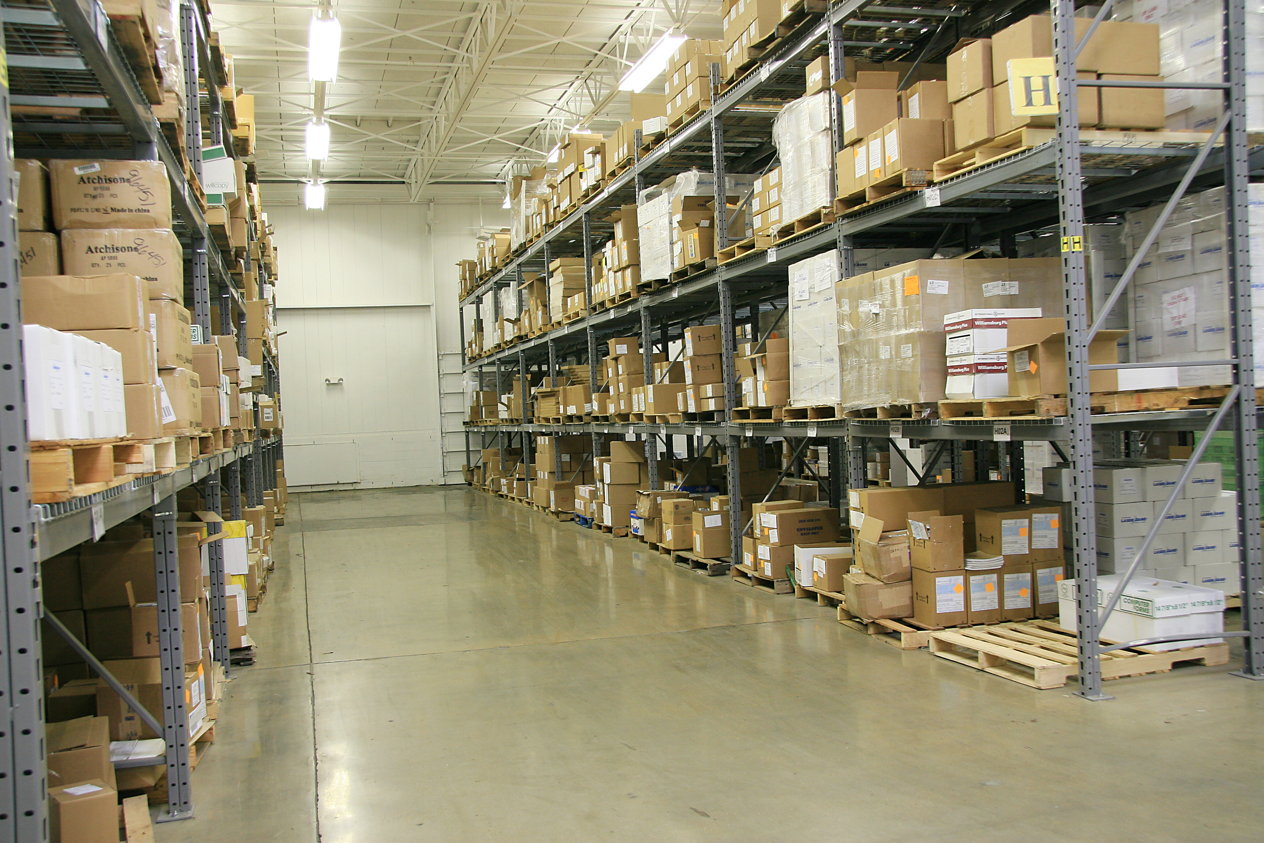 warehouse isle with products