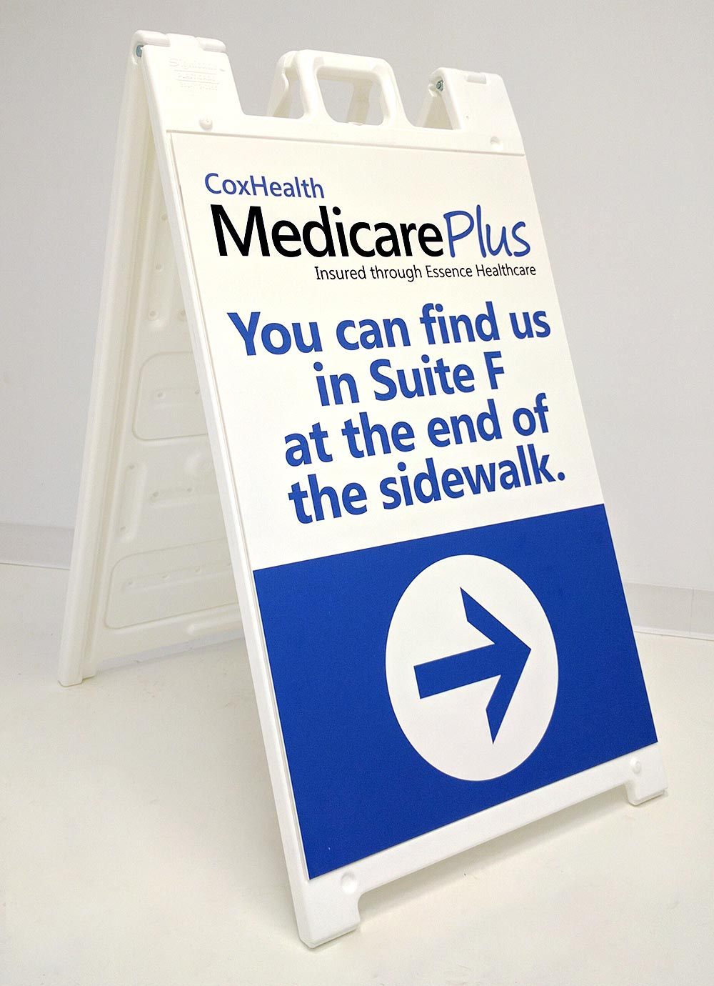 Healthcare Directional Sandwich Board Sign