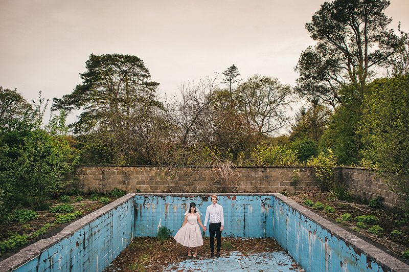 derelict swimming pool wedding