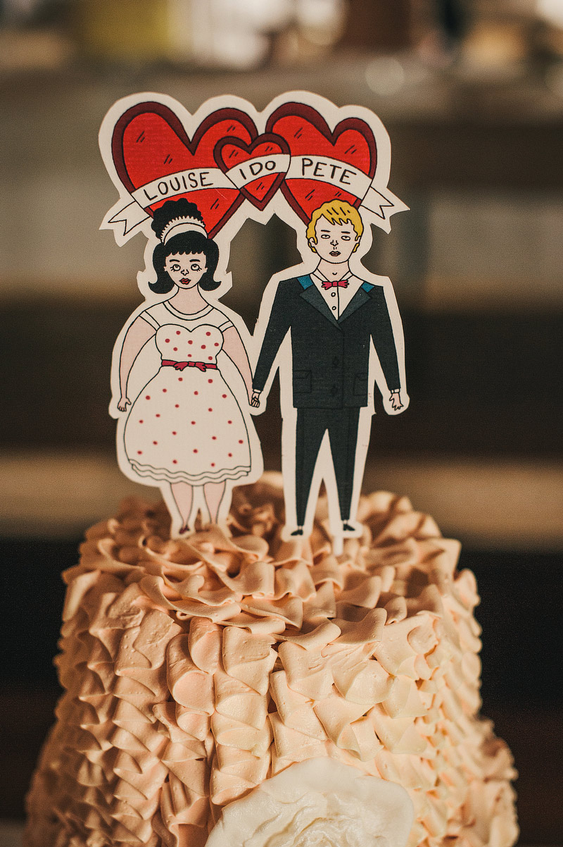 punk wedding cake