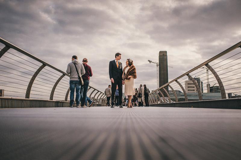 millenium bridge london wedding