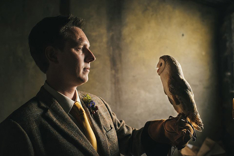 owl falconry wedding