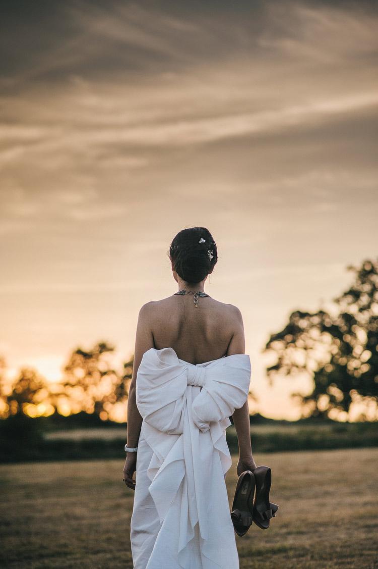 Lanvin Silk Bow Wedding Dress