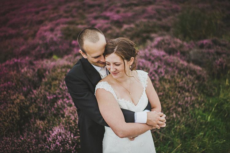 heather in bloom wedding portraits