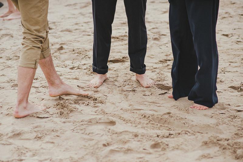 bare feet wedding
