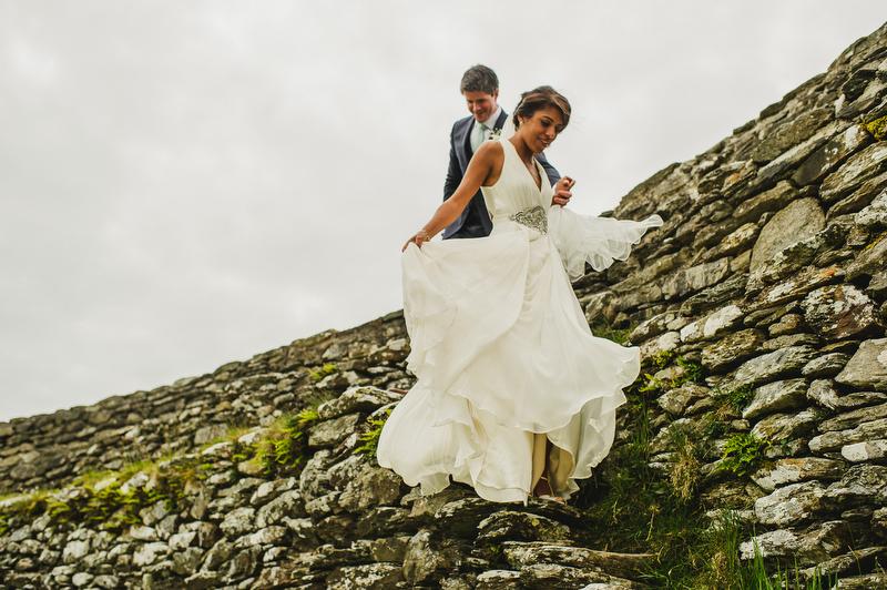 Donegal ancient Irish fort wedding
