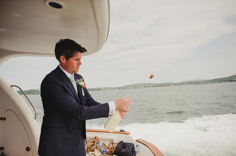 cork pop champagne wedding