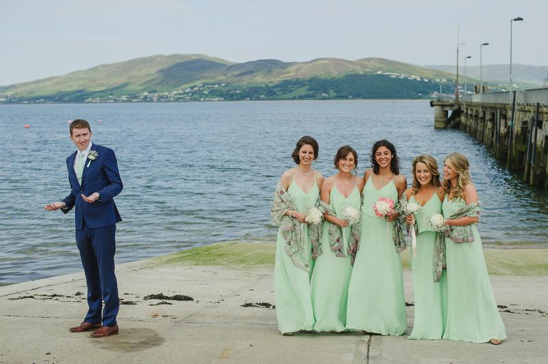 funny wedding portrait ireland