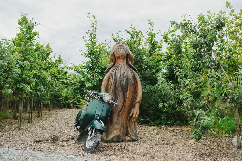 vespa at wedding