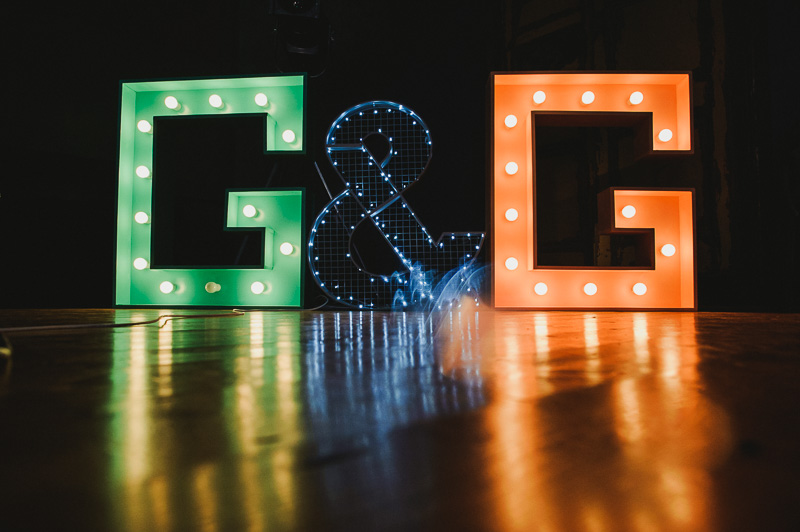 giant letters hand made diy wedding