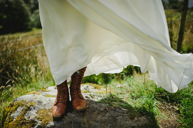 boots with wedding dress