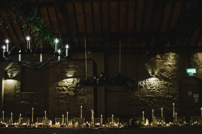larchfield estate wedding candle