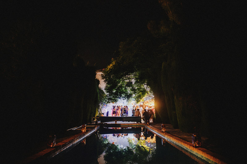 pool party wedding spain