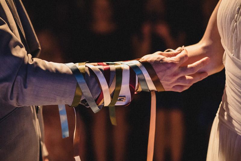 ribbon tying wedding ceremony