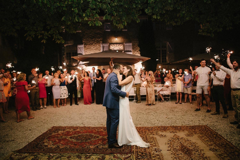 outdoor first dance wedding