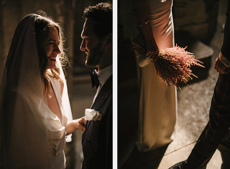 lavender bouquet bride