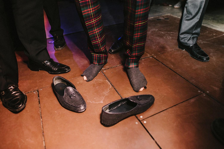 cutting grooms socks wedding ritual