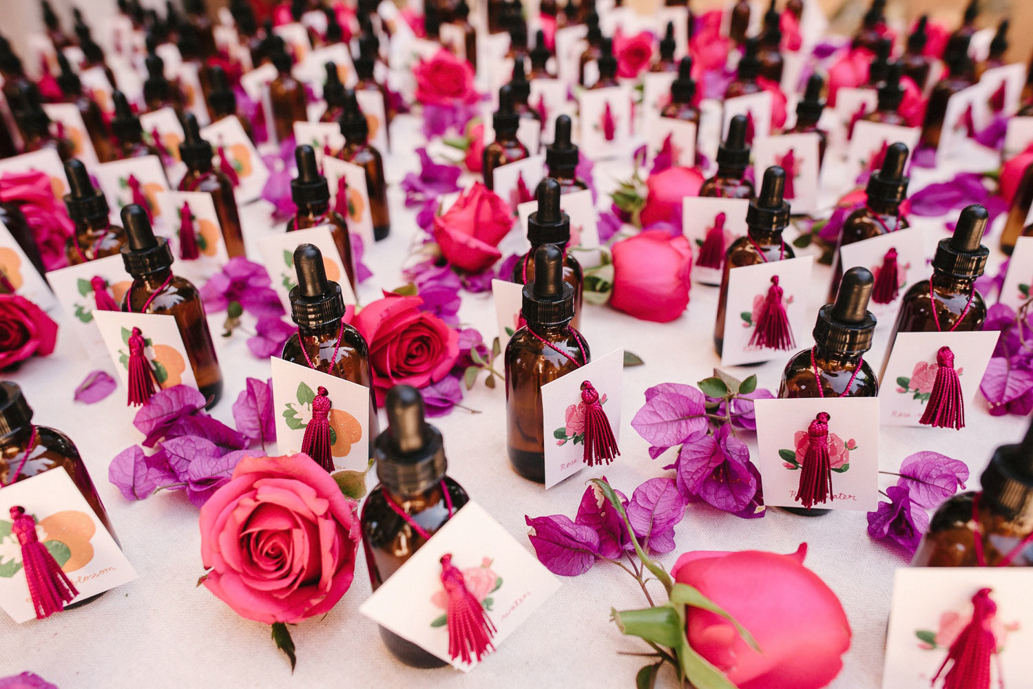rose water wedding favours
