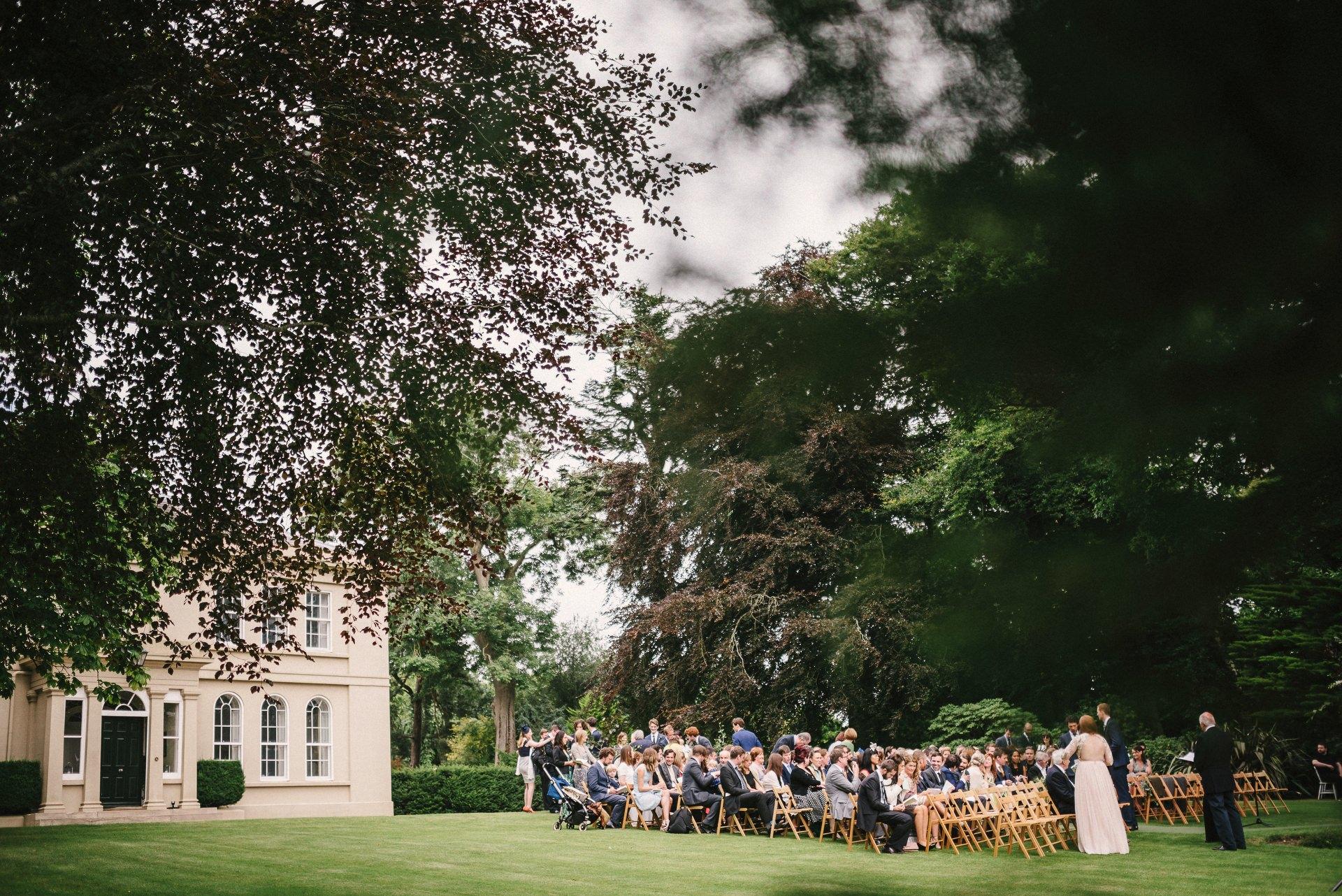outdoor garden wedding tullyveery house