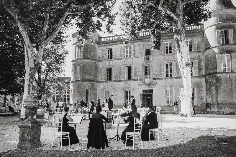 chateau de robernier wedding ceremony
