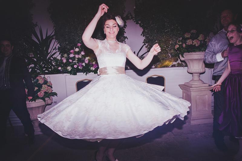 vintage fifties wedding dress
