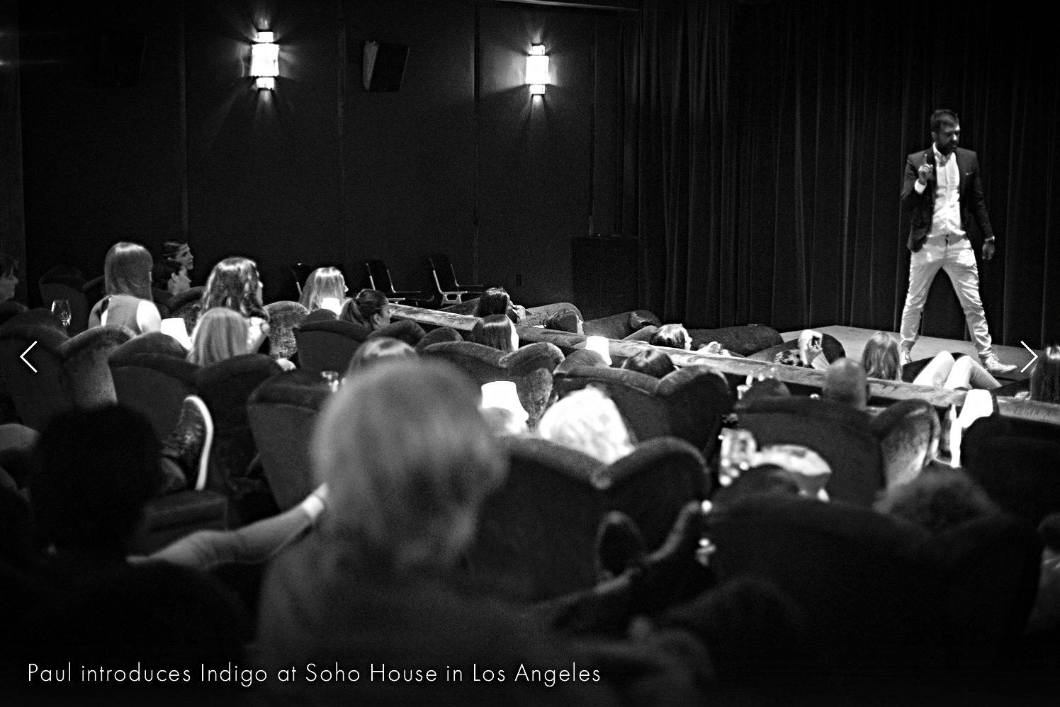 Exclusive Indigo screening at Soho House - West Hollywood.  - At the members club Soho House, West Hollywood in Los Angeles an invited audience gathered for the first screening of Indigo. In the private cinema people from the industry was introduced to film by director Paul Jerndal who talked about the importance of reflecting about your inside.